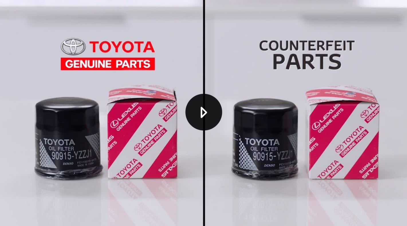 Oil Filters Toyota Genuine vs Counterfeit