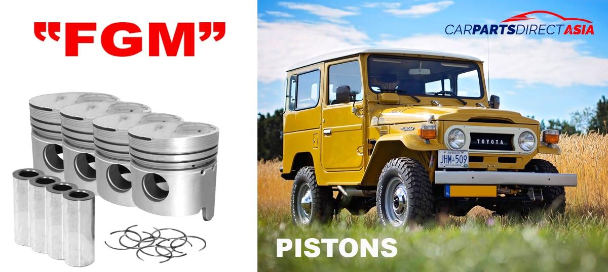 13101-58011 PISTON WITH PIN. 1.00, FGM LAND CRUISER 40/60 * 3B * (BJ42, BJ45, BJ46, BJ60)